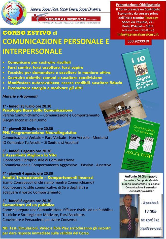 Corso estivo di Comunicazione